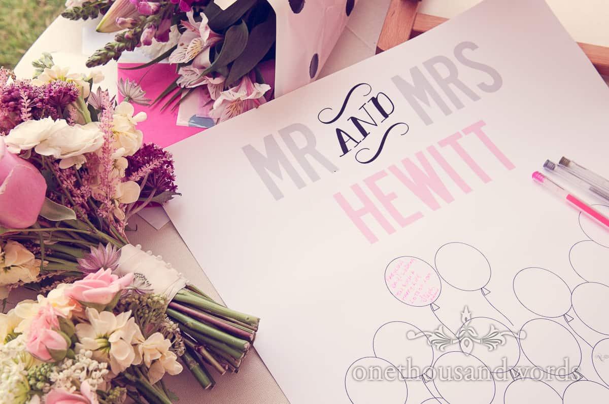 wedding flowers at Harry Warren House