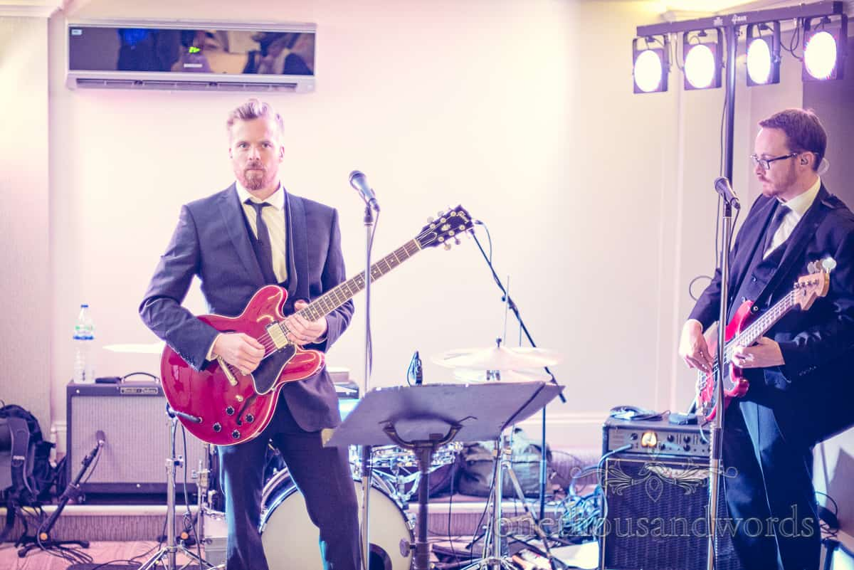Wedding band at Christchurch Harbour Hotel