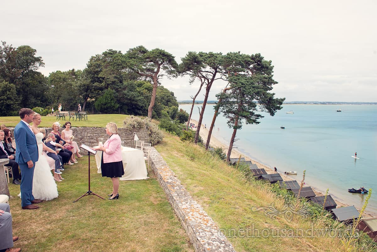 Wedding ceremony by the sea in Dorset