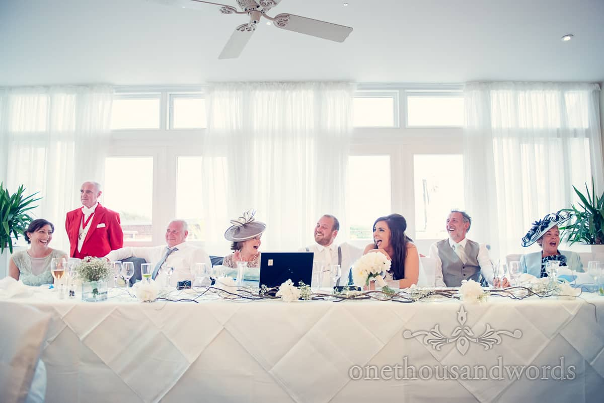Wedding Speeches at Christchurch Harbour Hotel