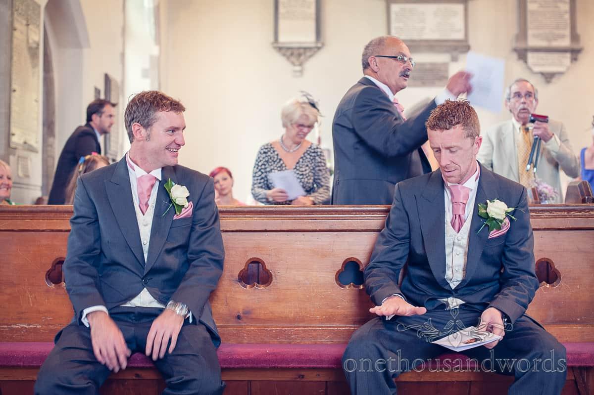 St Marys Swanage Wedding Groom and best man