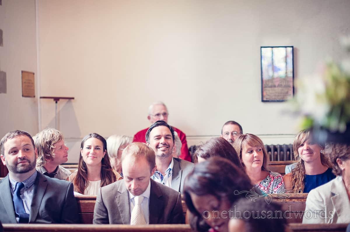 St Marys Swanage Wedding guests portrait
