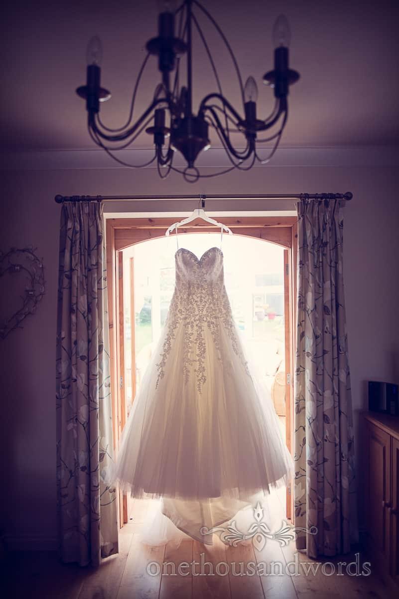 WEdding Dress in Swanage on wedding morning