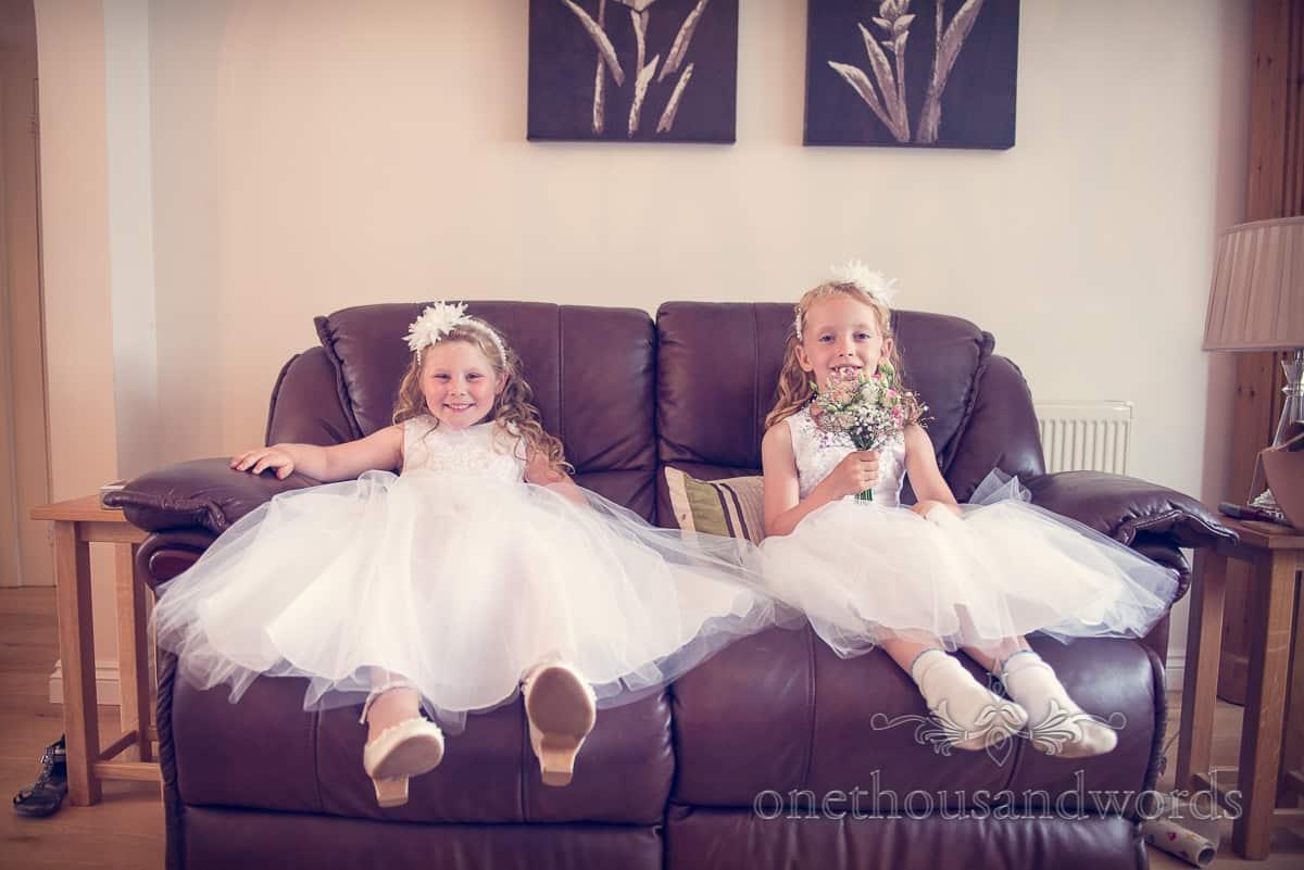 Swanage wedding photographs Flowergirls
