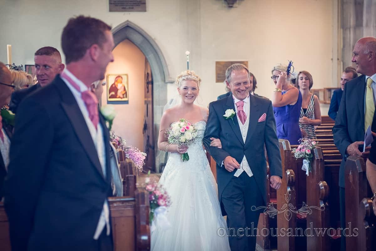 St Marys Swanage Wedding Bride