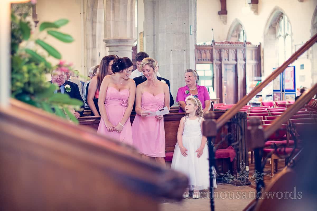 St Marys Swanage Wedding Bridesmaids