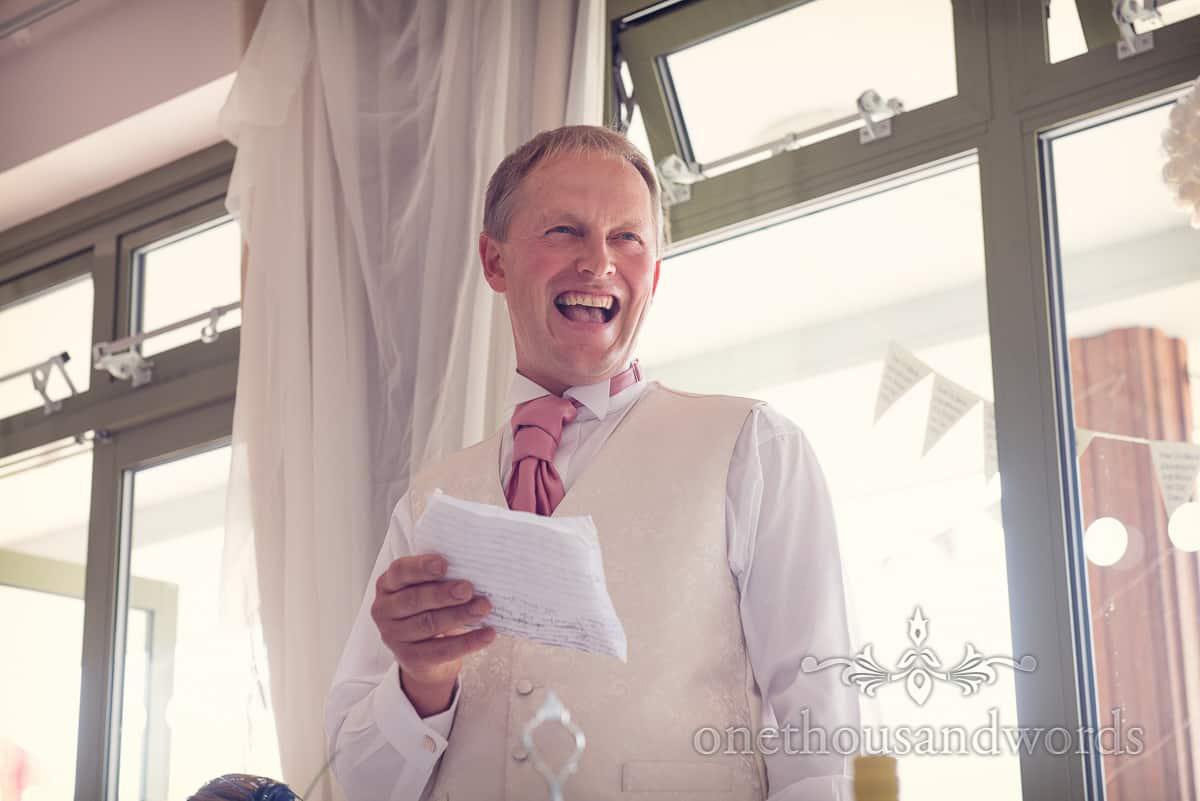 Harmans Cross Village Hall Wedding speeches photos