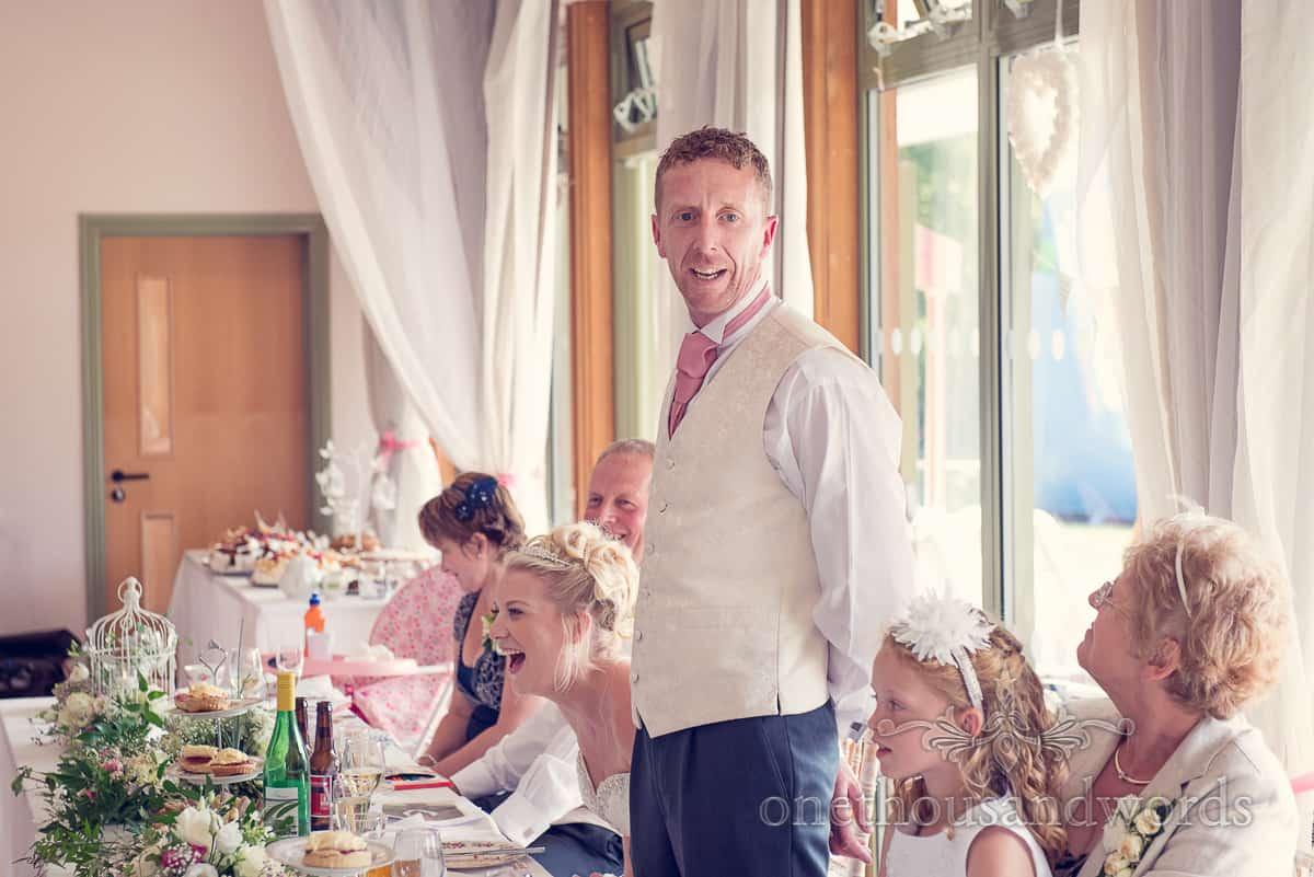 Harmans Cross Village Hall Wedding speeches