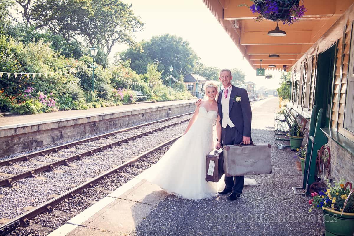 Swanage Steam Railway wedding photographs