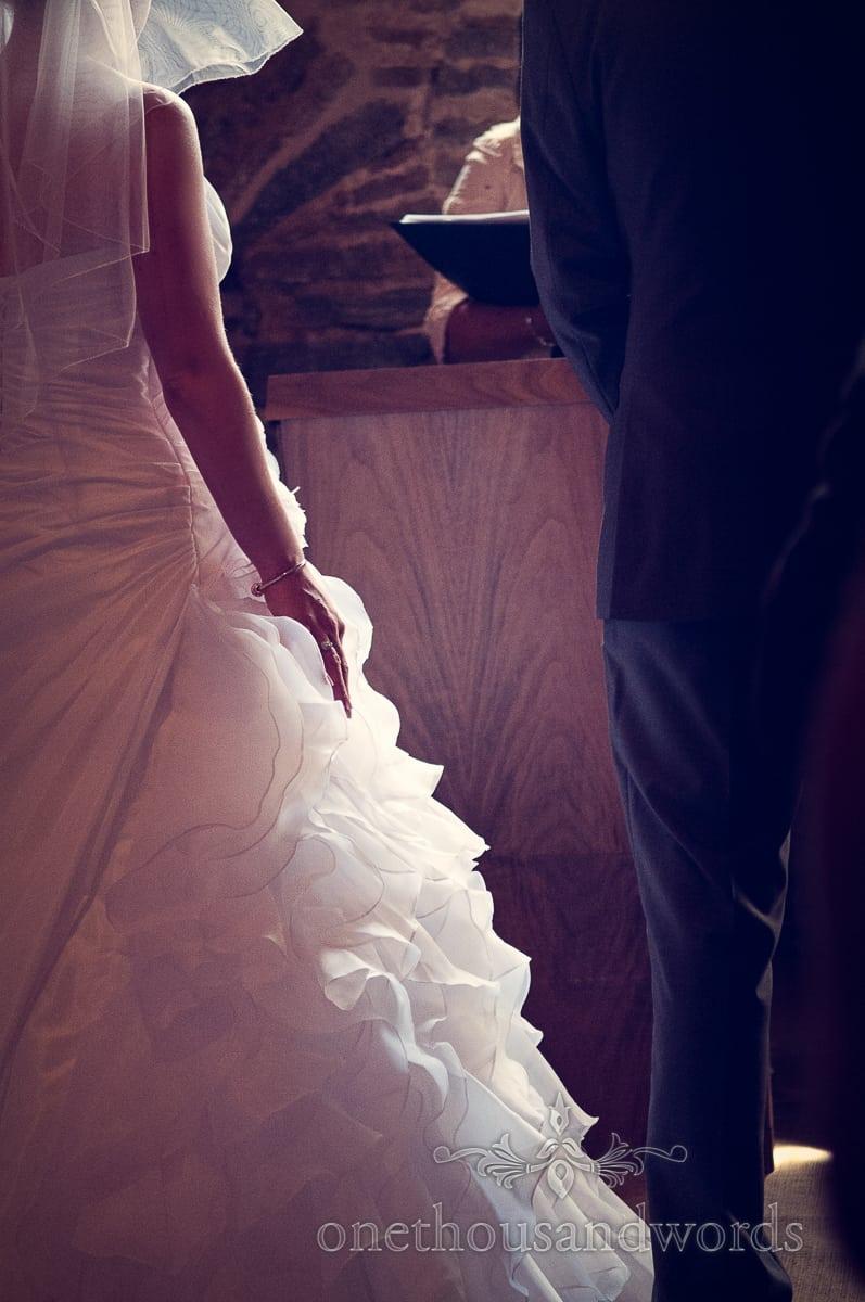 wedding dress at Stockbridge Farm Barn Wedding