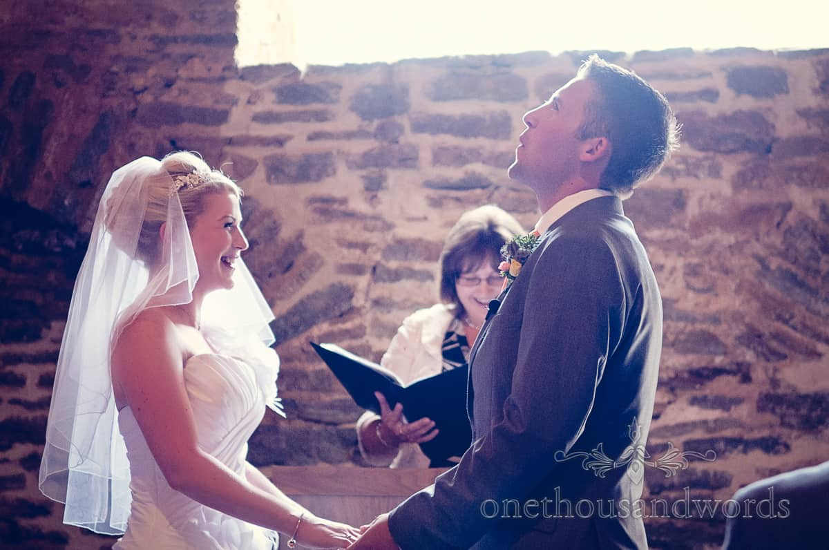Wedding vows photography at Stockbridge Farm Barn
