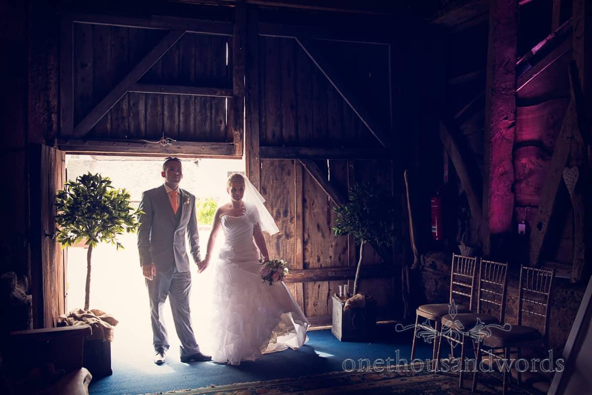 wedding photography at Stockbridge Farm Barn