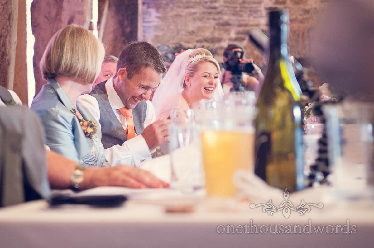 wedding speeches at Stockbridge Farm Barn