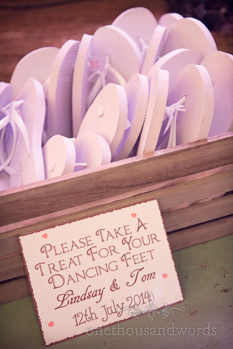 wedding dancing flip flops