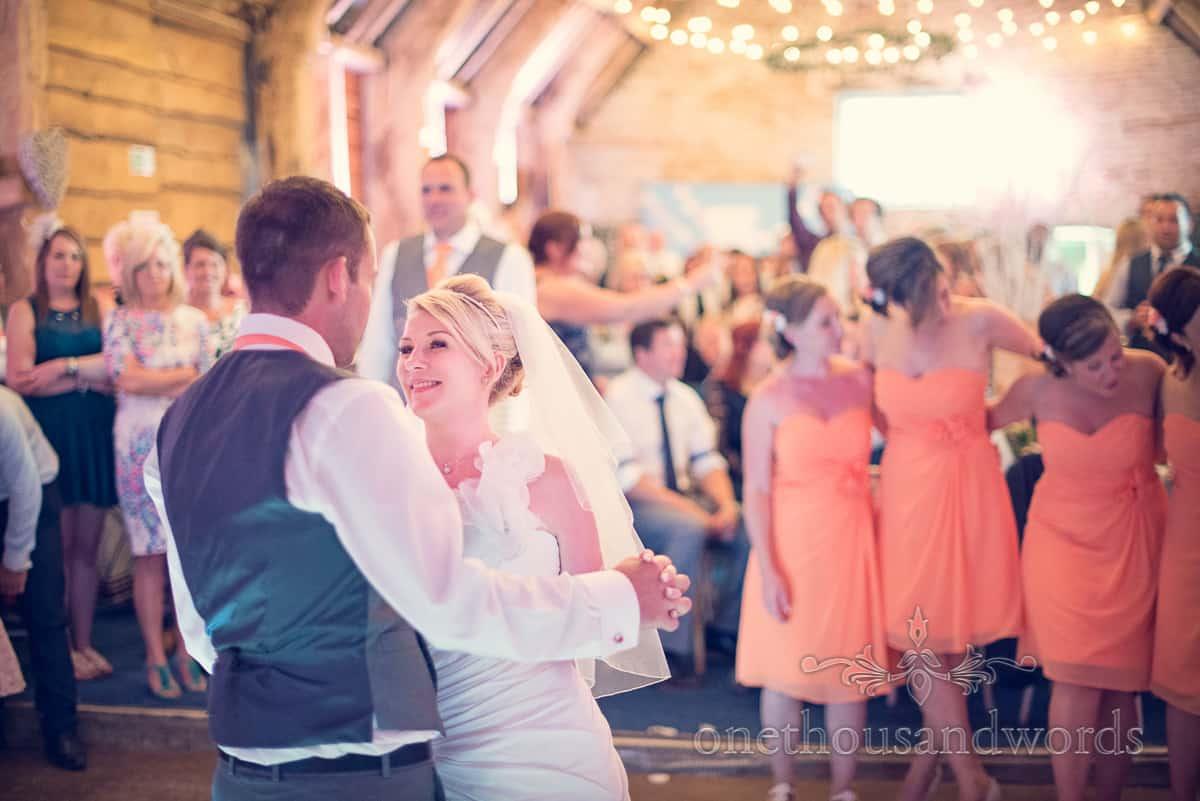 First Dance at Stockbridge Farm Barn Wedding