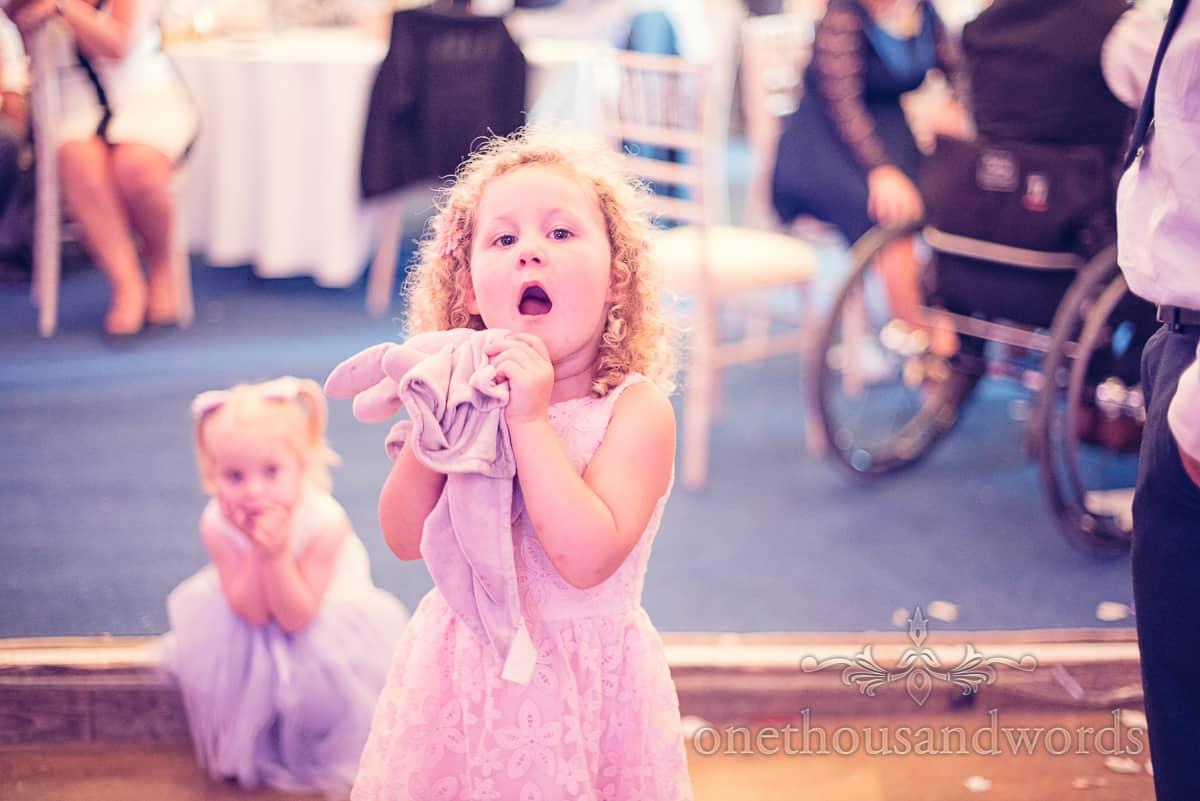 children singing at wedding