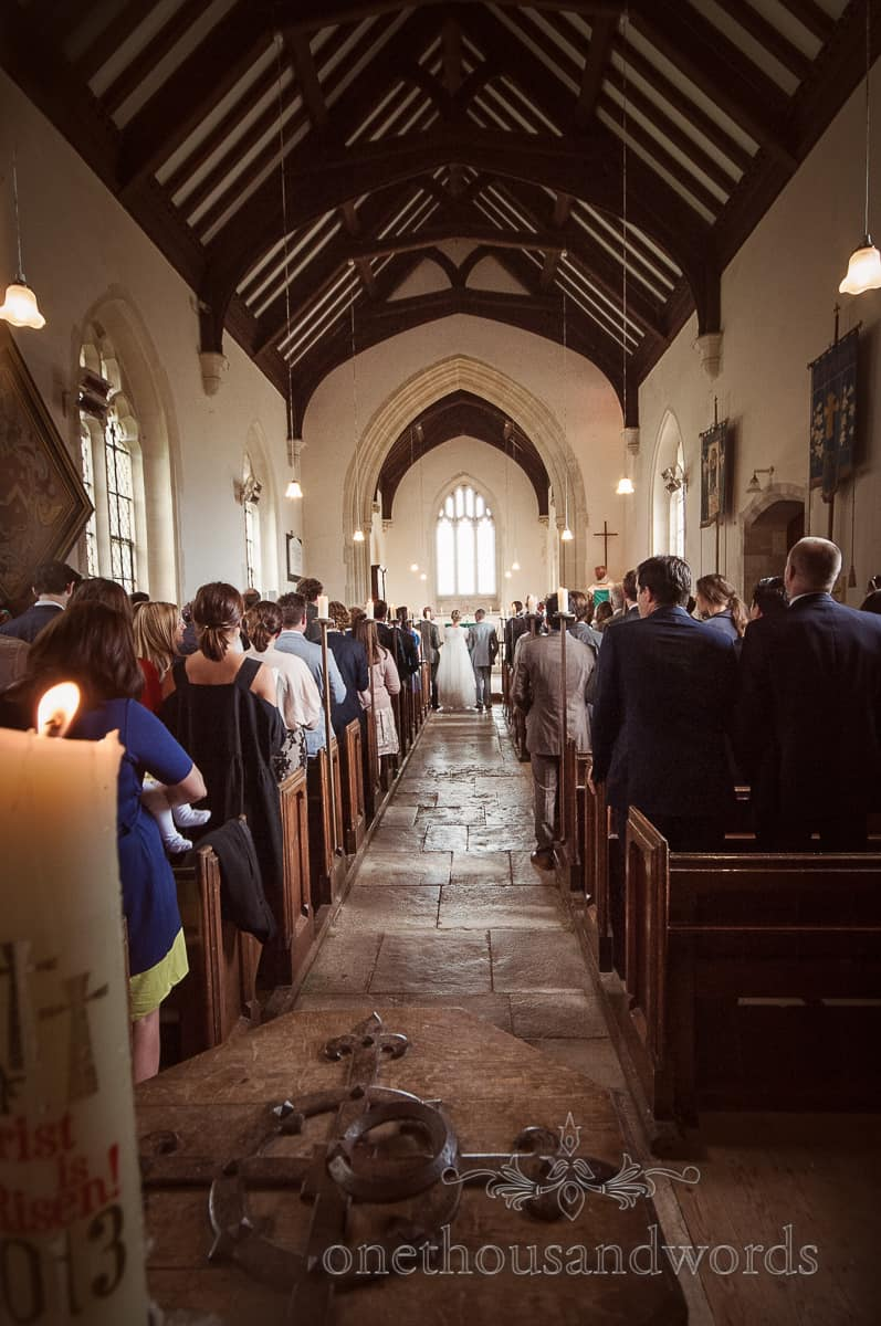 WEdding service at Lulworth Castle Wedding
