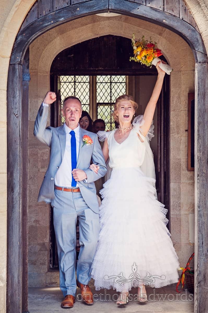 Wedding ceremony celebrations at Lulworth Castle Wedding