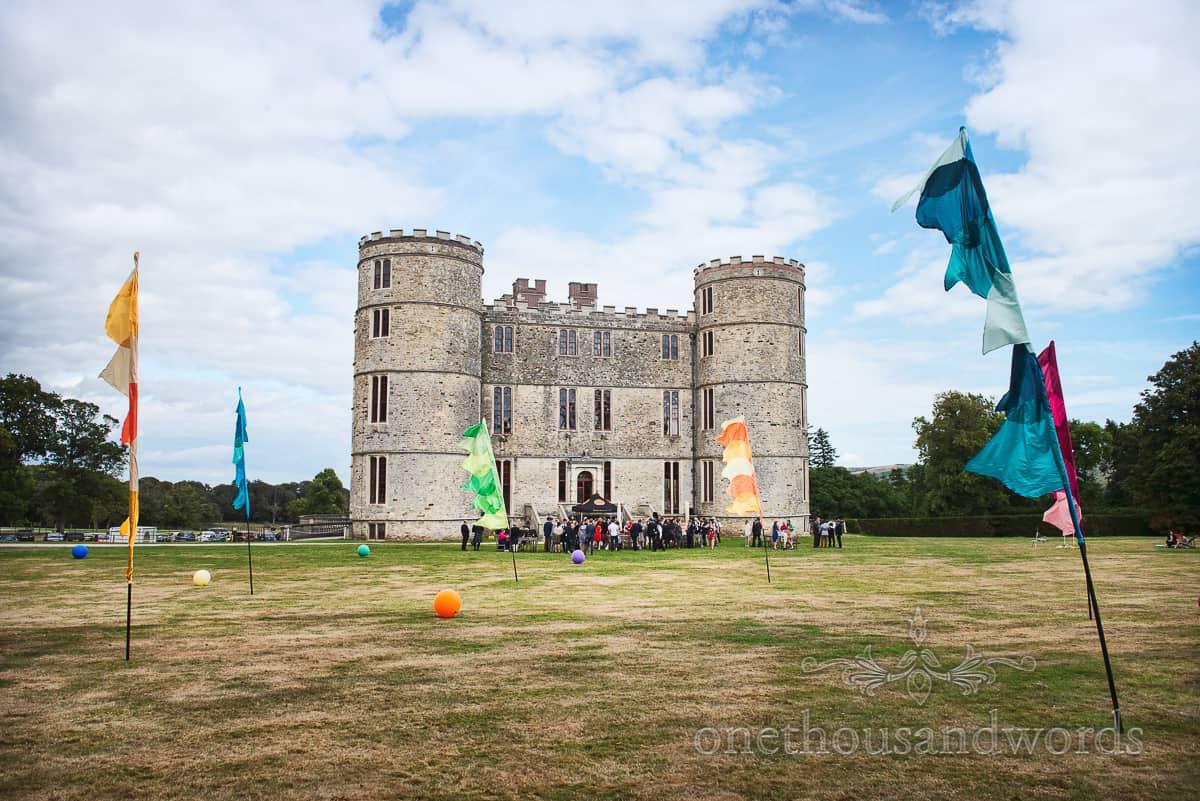 Lulworth Castle Wedding Flags