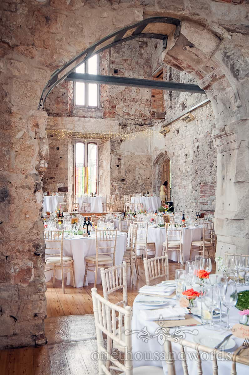 Lulworth Castle Wedding Tables lay out
