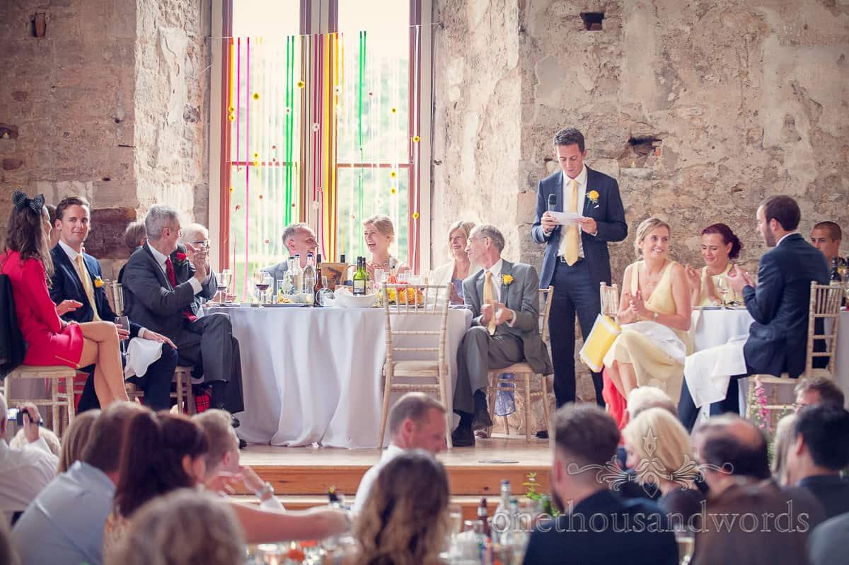 Lulworth Castle Wedding best man's speech