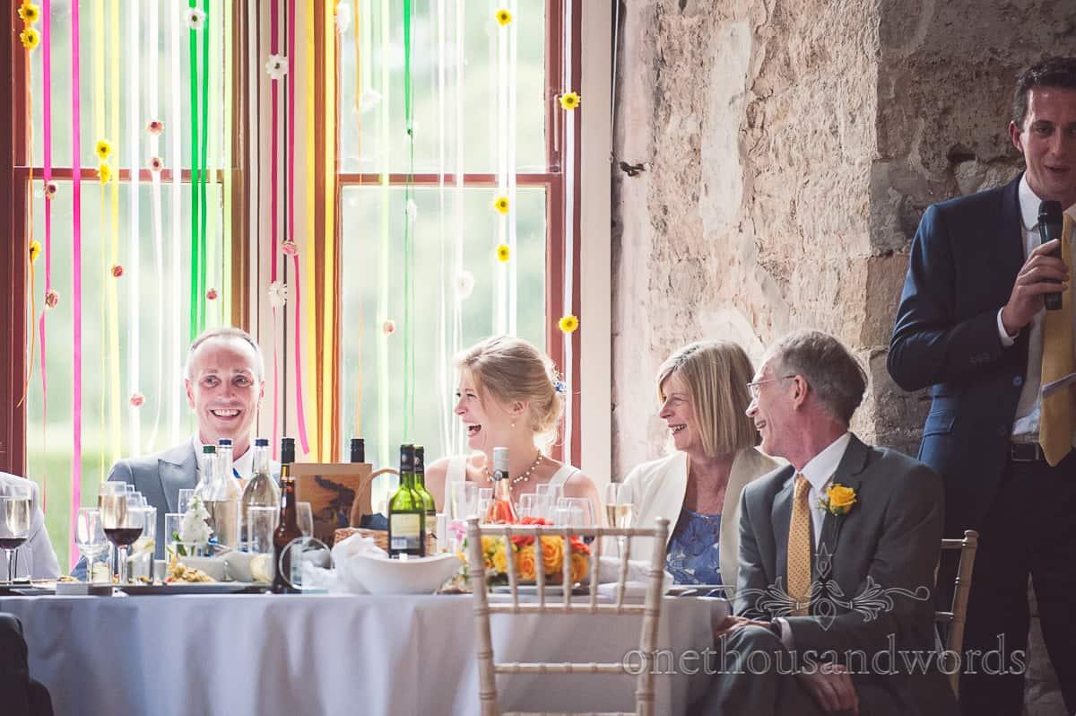 Lulworth Castle Wedding speeches reaction