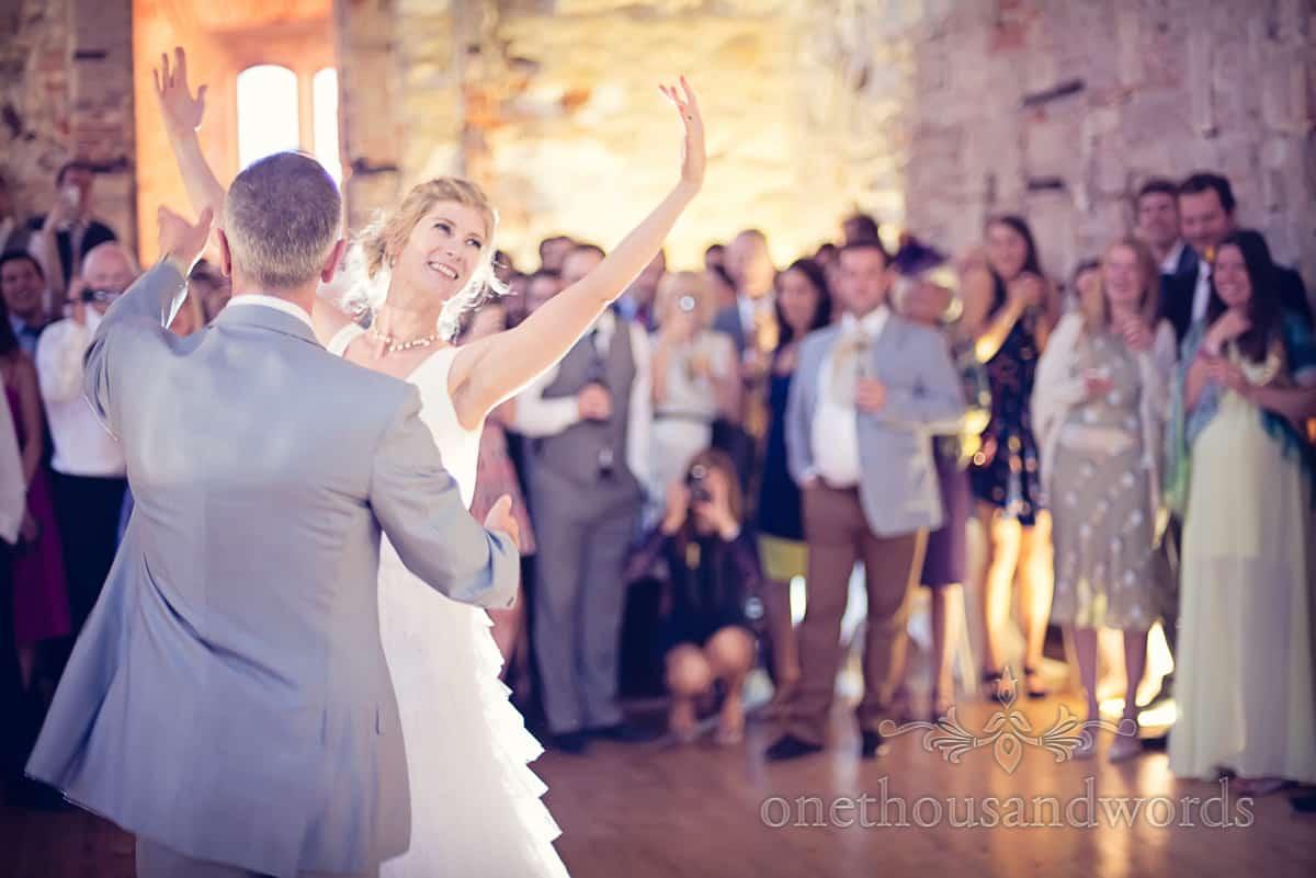 Lulworth castle first dance wedding photography