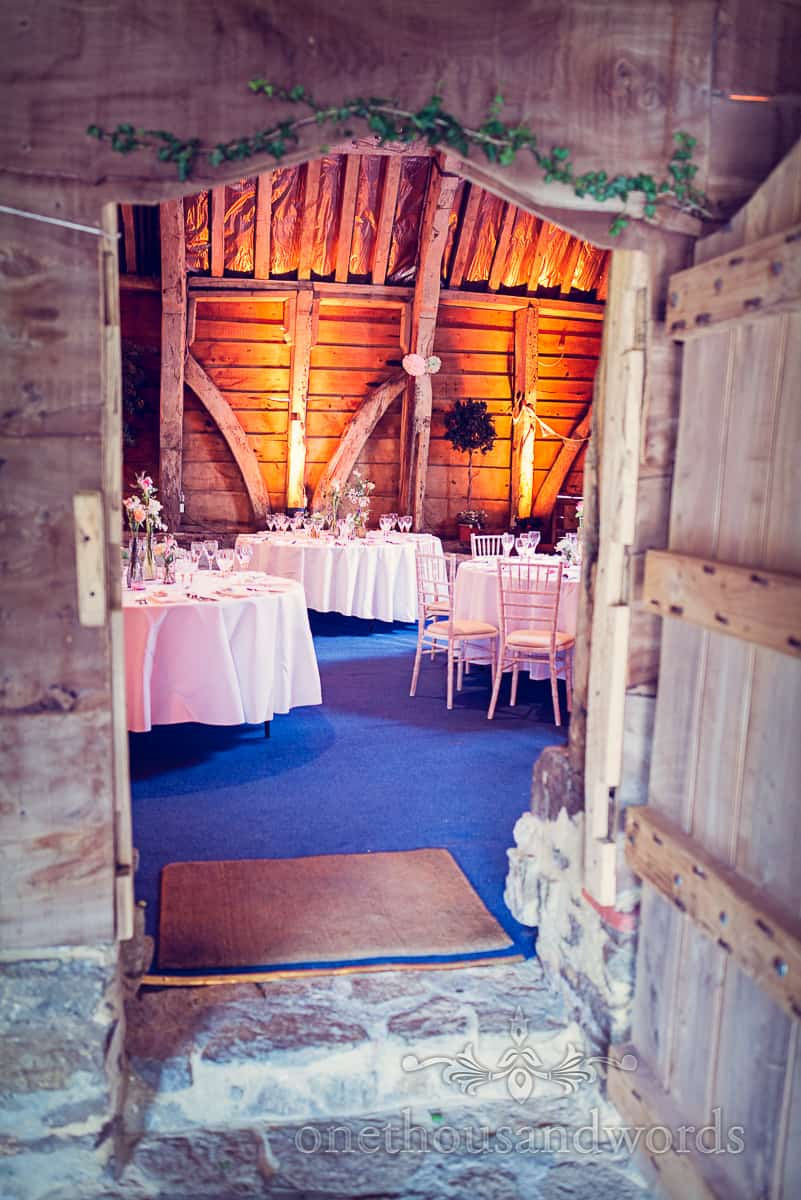 Stockbridge farm barn wedding tables