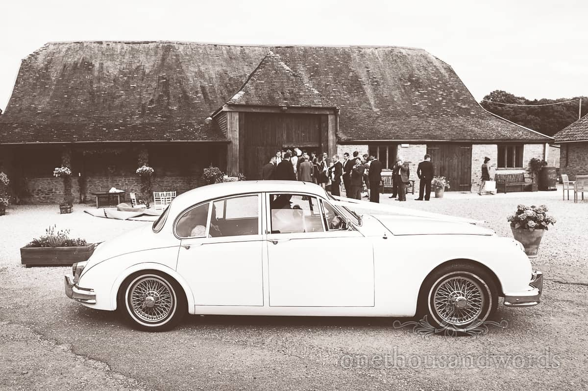 Wedding Jaguar at Stockbridge Farm Barn