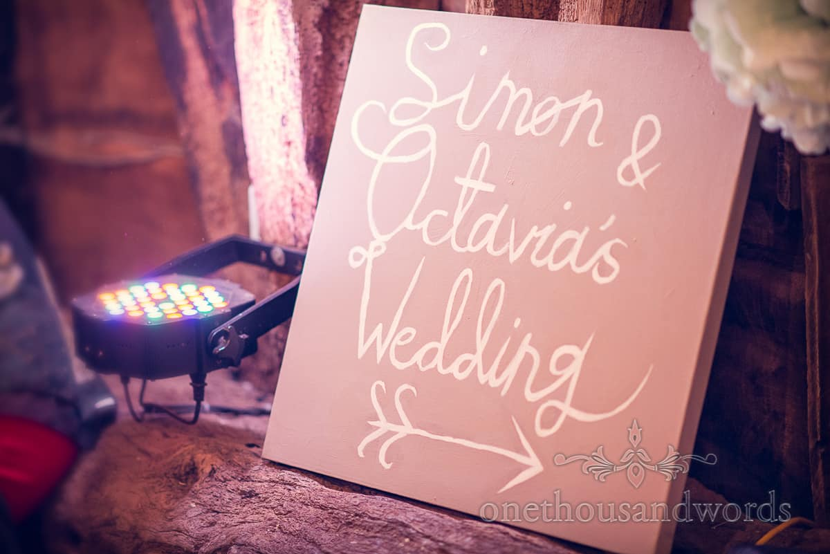 Simon and Octavias wedding sign