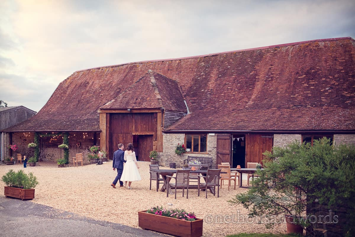 Bride and groom at Stockbridge Farm Barn Wedding