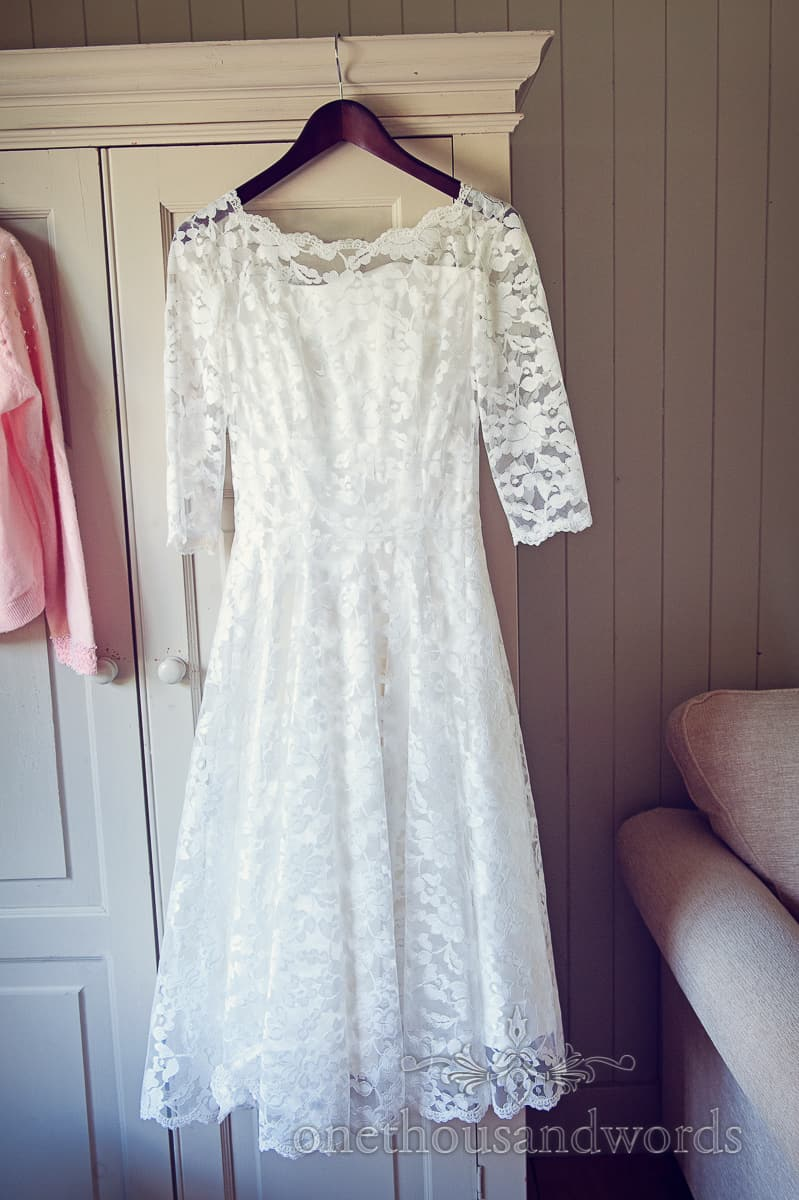 retro chic wedding dress