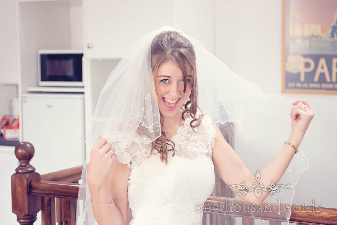 Sherborne bride in white wedding dress