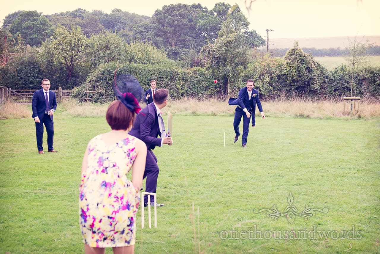 Wedding Cricket match in Hampshire Countryside