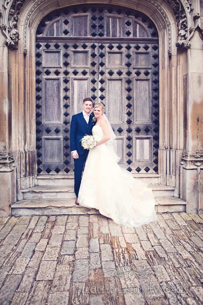Highcliffe castle wedding couple