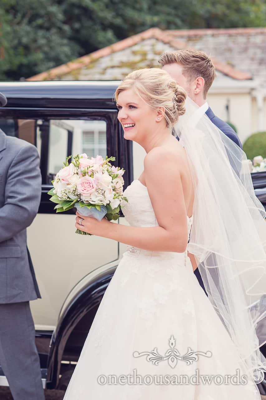 bride adn groom at The Lord Bute Wedding Venue in Dorset