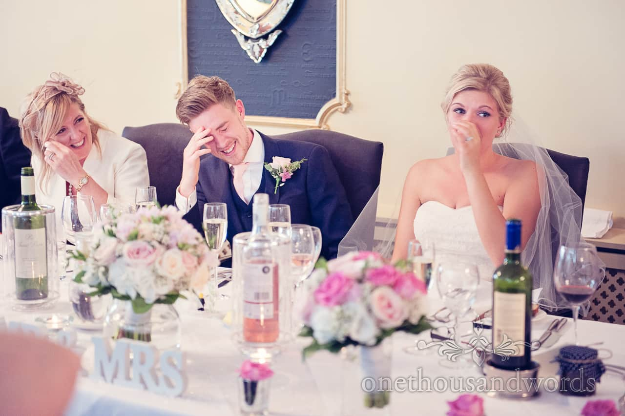 Wedding speeches at Lord Bute wedding venue in Dorset