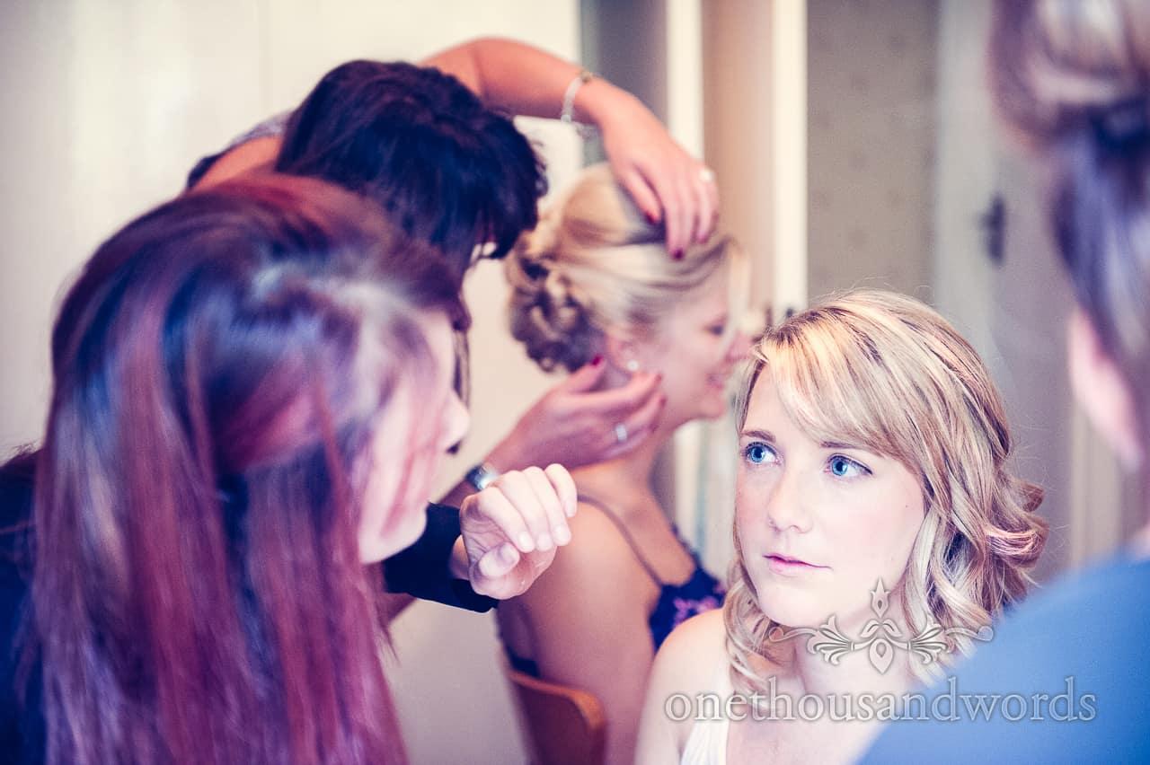 Wedding makeup at Highcliffe Castle wedding