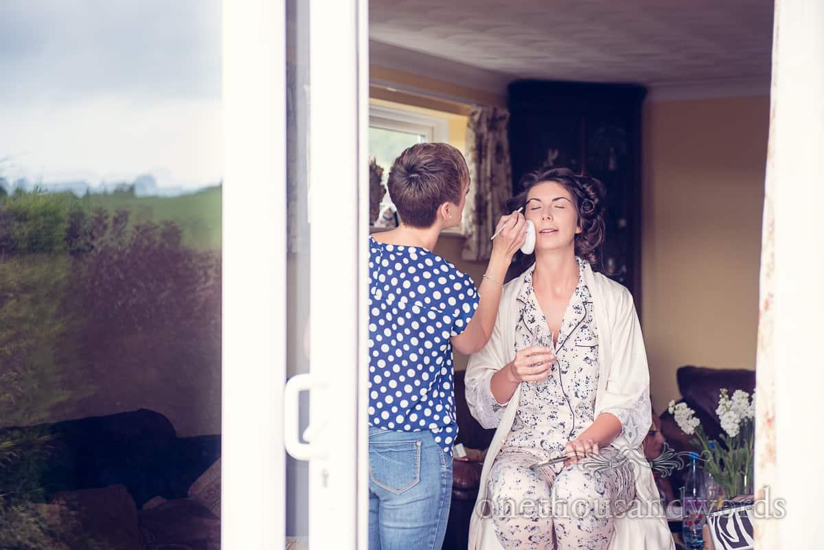 Sherborne, Dorset Wedding makeup