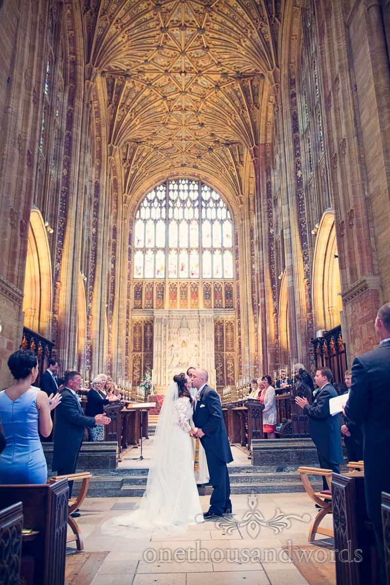 Sherborne wedding photographs of Sherborne Abbey