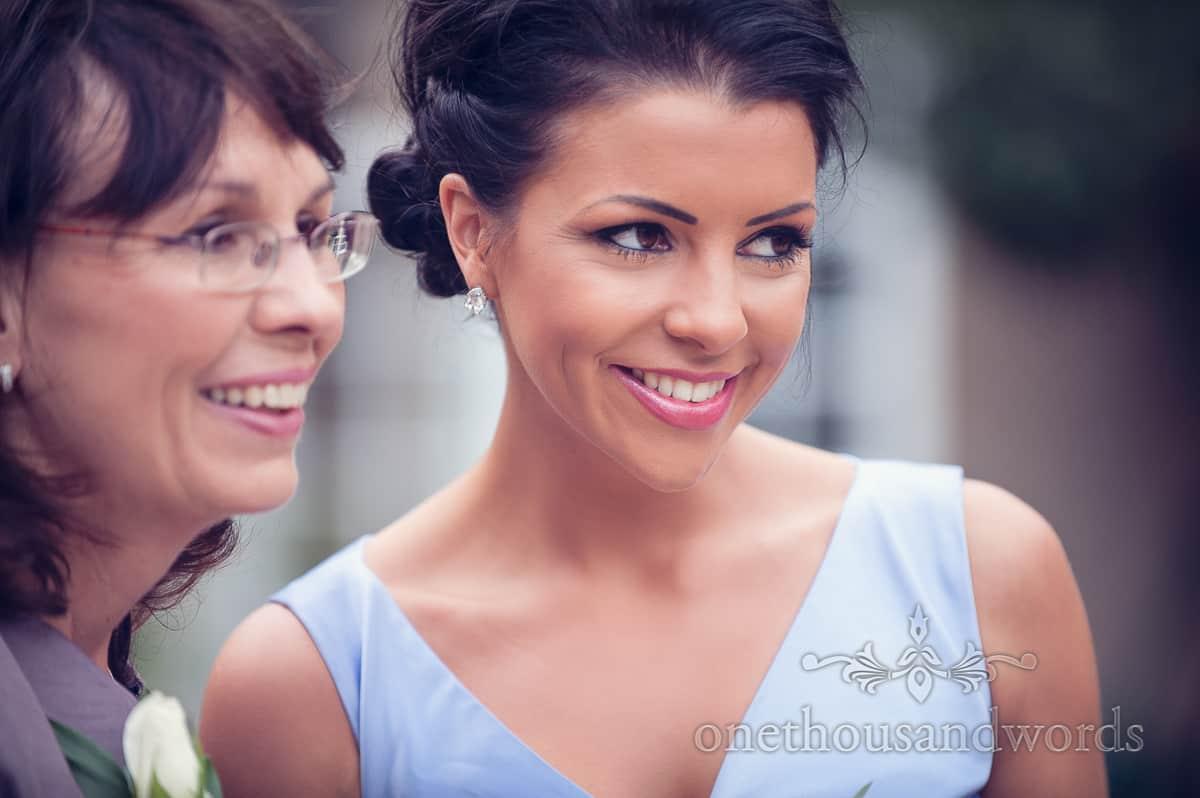 Happy beautiful bridesmaid portrait photograph