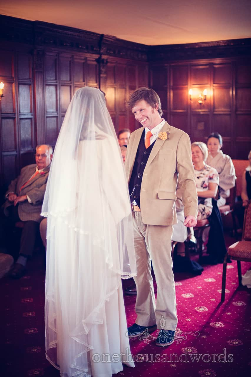 weddign ceremony at Mortons house hotel in Corfe