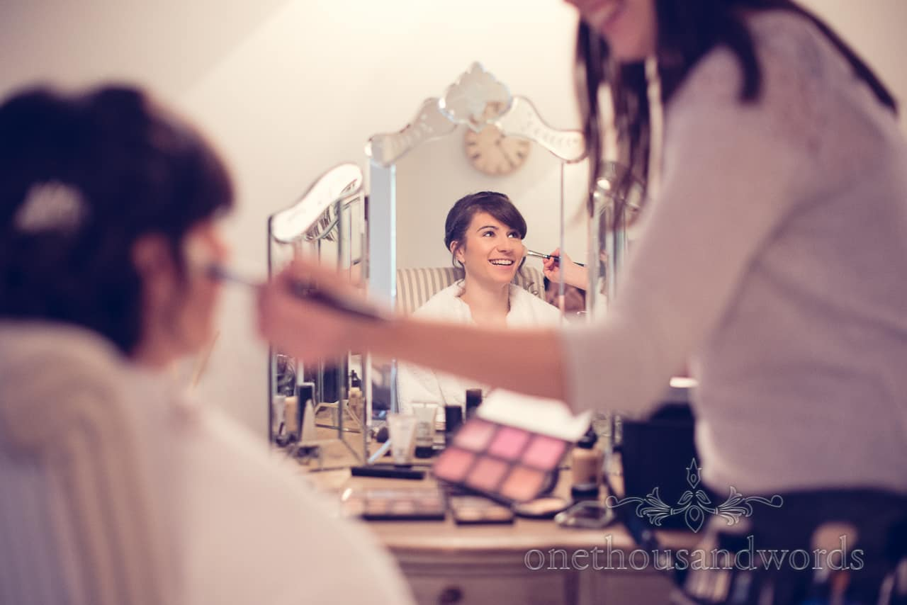 Sopley Mill Wedding makeup photographs by one thousand words wedding photographers
