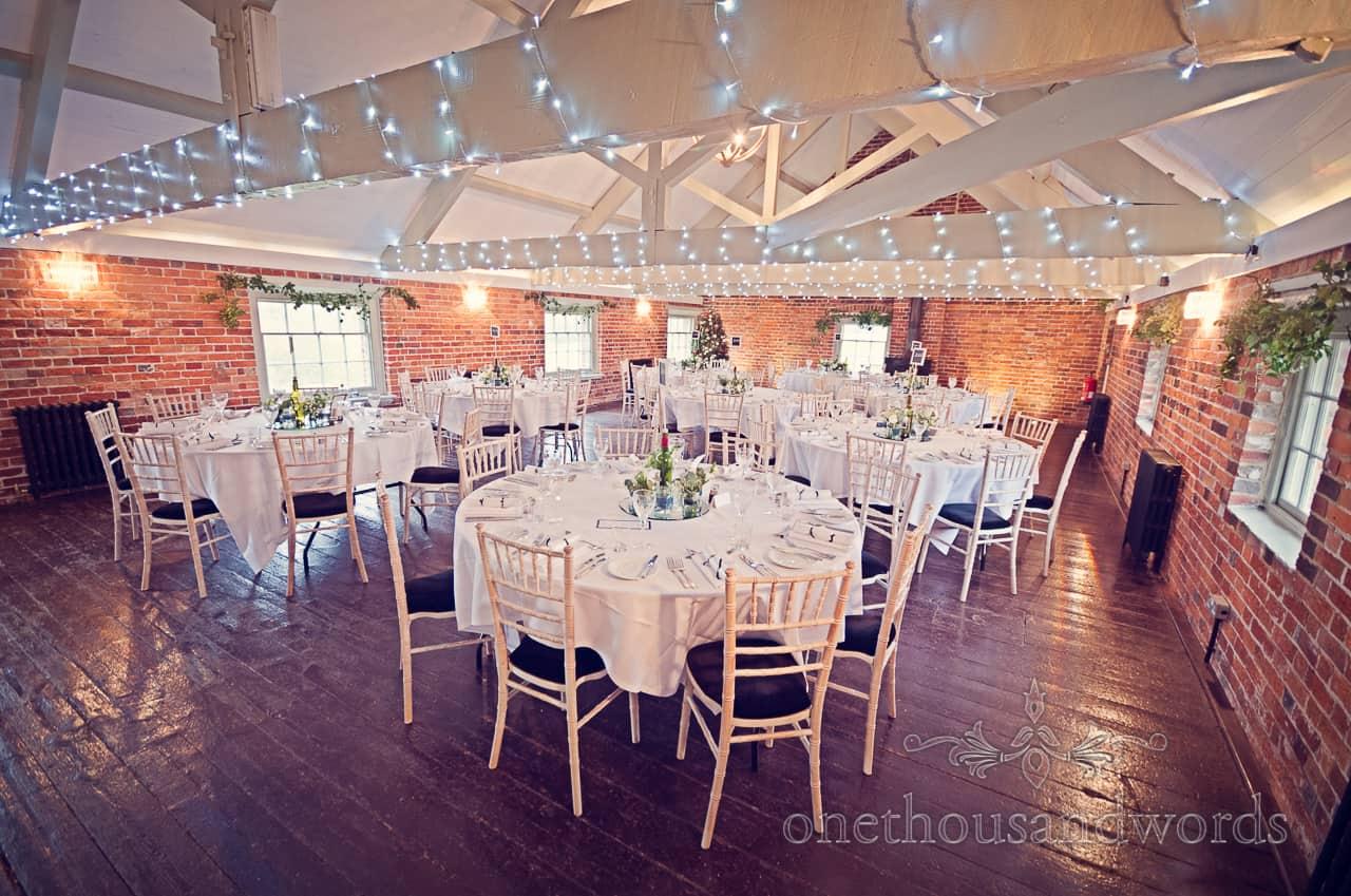 Sopley Mill Wedding breakfast room