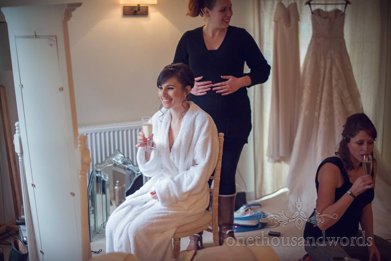 Sopley Mill Wedding bridal preparations