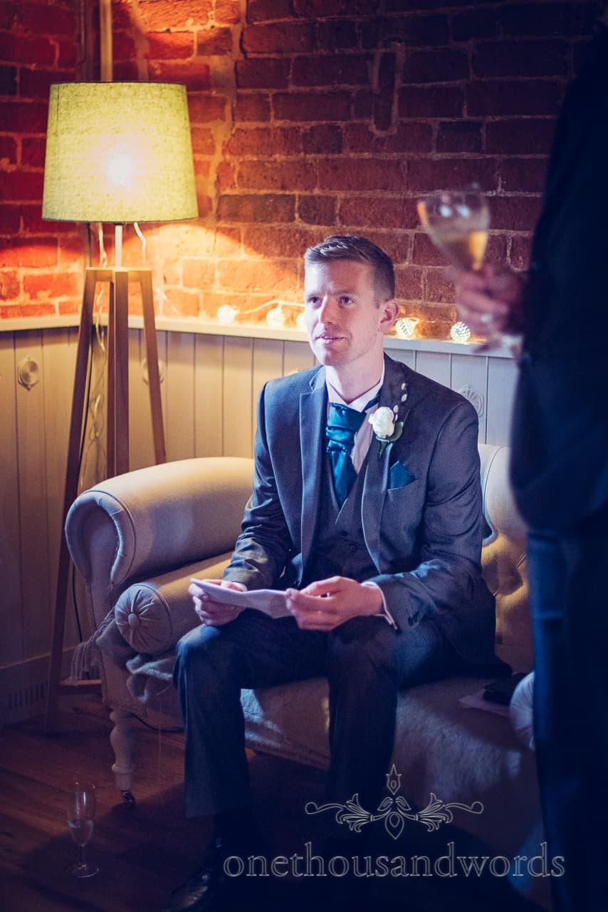 Sopley Mill Wedding best man