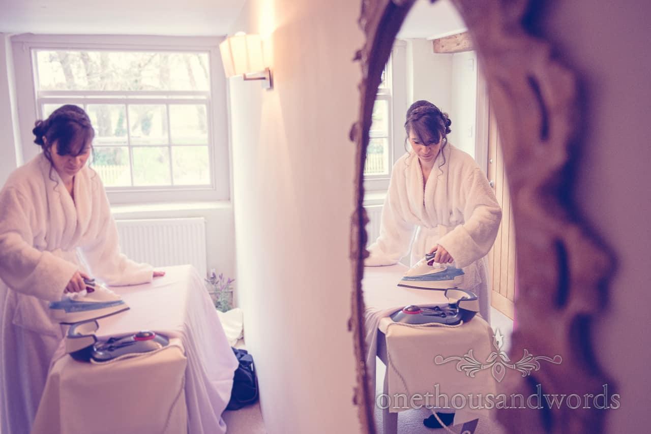 Sopley Mill Wedding dress ironing