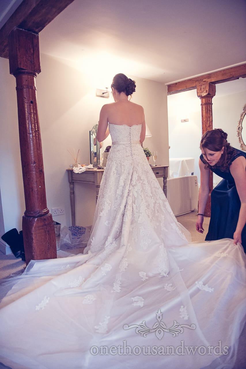 Sopley Mill Wedding dress bride