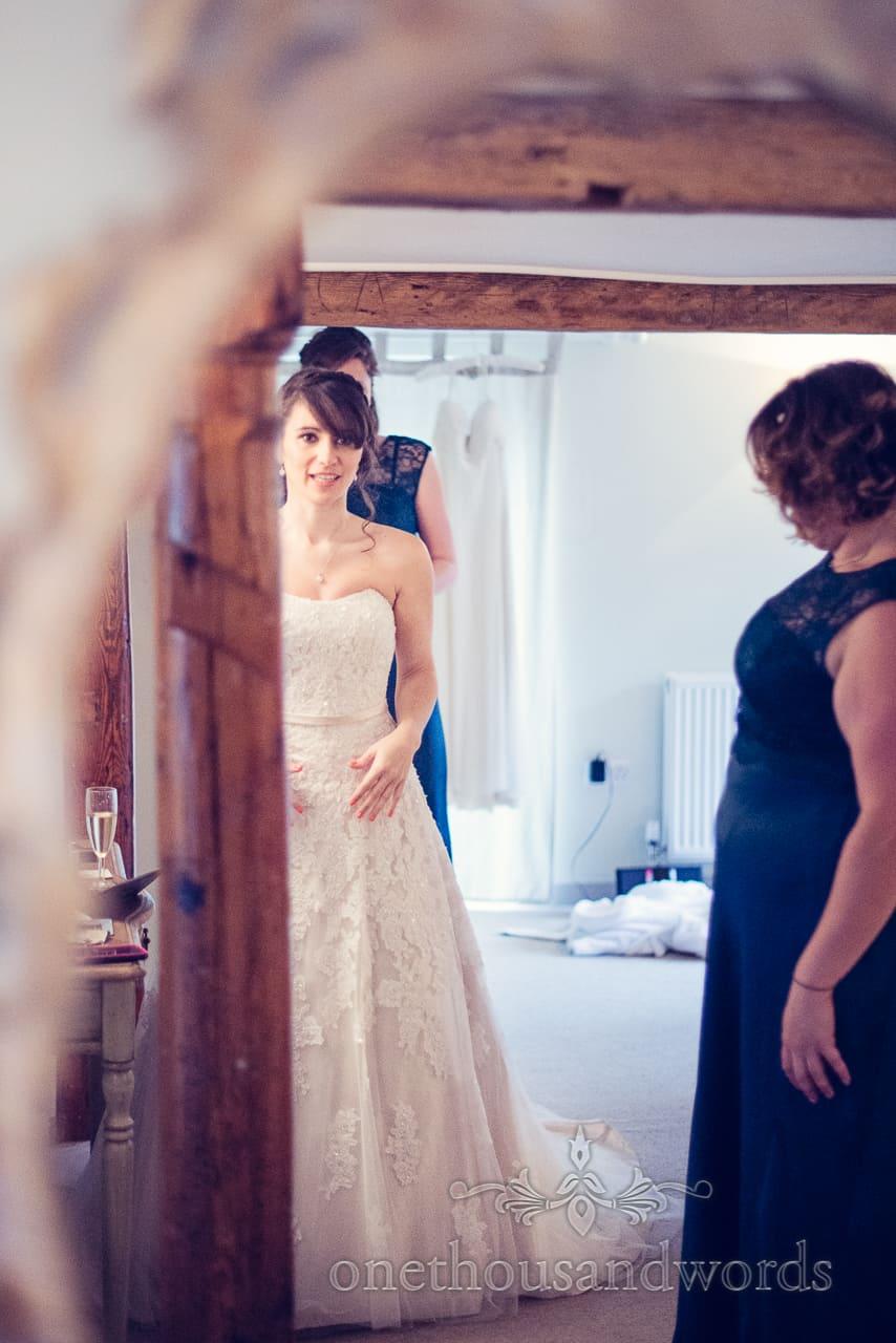 Sopley Mill Wedding bride photograph