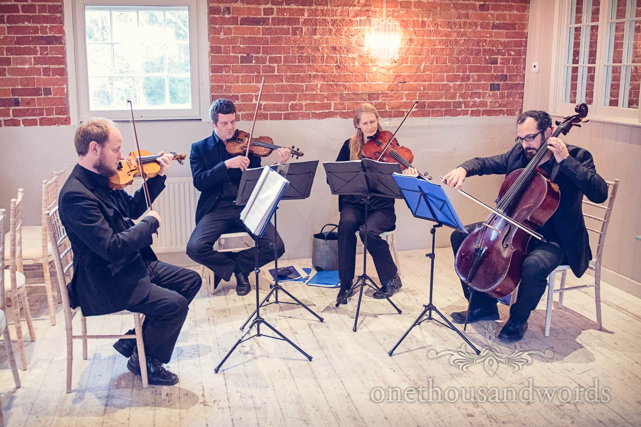 Sopley Mill Wedding string quartet